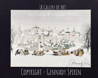 1 Autographed Card by Gennady Spirin - WINTER