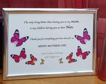 Personalised mothers day print