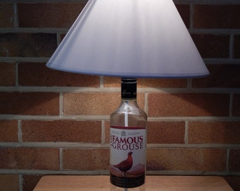 Upcycled Whisky Bottle Table Lamp