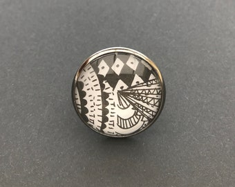 Cabochon 25mm Adjustable ring