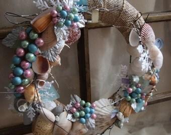 Christmas Seashell Wreath