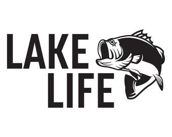 Lake Life - Largemouth Bass - Car Decal
