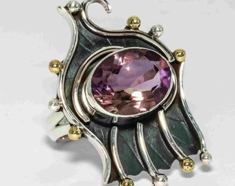 Beautiful Ametrine Two Tone Vintage Style Handmade 925 Sterling Solid Sliver by silver pebbles