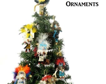 Native Made Kachina Doll Christmas Ornaments Assorted 23 to choose from