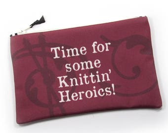 Zipper Bag,Firefly Fan, Time for Knittin Heroics Notions Bag