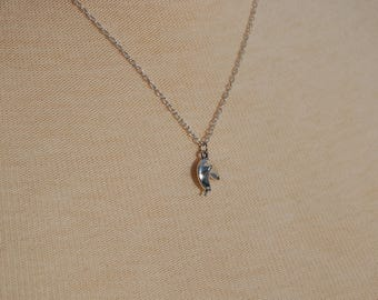 Tiny Fortune Cookie Necklace