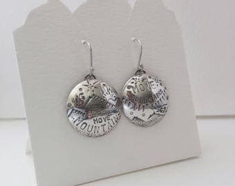 "Move Mountains ""Horseback Riding"" Mis-matched Earrings - Sterling Silver"