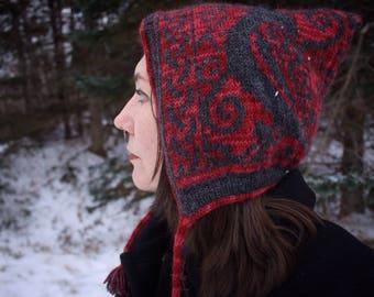 Nevermore - Alpaca Pixie Bonnet