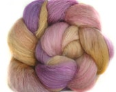BABY CAMEL SILk  handdyed luxury roving top spinning fiber 3.6 oz