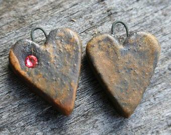 Handmade Mini Heart Charms