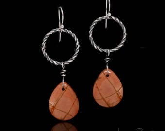 Cherry Creek Jasper Earrings in Sterling Silver