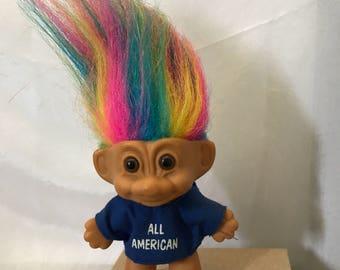 Russ Troll All American Multicolor Hair circa 1990
