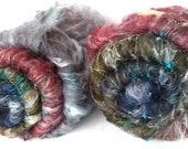RESERVED for Kathleen, Smoothish Art Batt Set- 'Guthrie 318-03'- 4.6 oz Spinning, Felting, Weaving, Papermaking Fiber