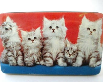 Kittens Vintage Tin Box - Thorne's Toffee Tin England - Kitty Cat Collectible Gift