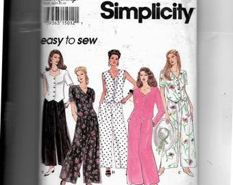 Simplicity Misses' Pants and Top or Vest Pattern 8848