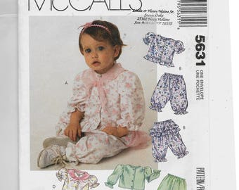 McCall's Infants' Top and Pants or Shorts Pattern 5631
