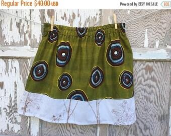 SALE- Flea Market Skirt- Eco Friendly Reclaimed Fabrics-Womens-S/M