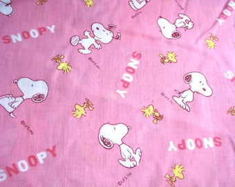 Snoopy Cotton Blend Woven Fabric