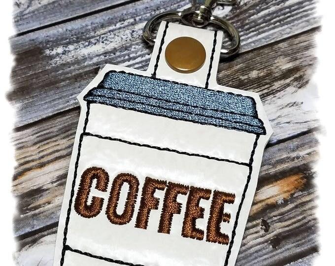 Coffee Cup Keychain, Coffee Cup Key Fob, Espresso Coffee, Coffee Keyholder, Coffee Lover Gifts