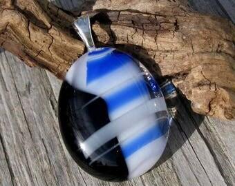 Nautical Dreams Fused Glass Pendant