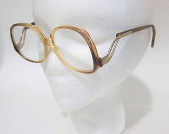 ON SALE Vintage 80's Glasses Bifocal Combination Plastic Metal Frame 90's