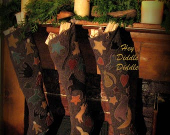 Hey Diddle Diddle Stocking only, printed pattern