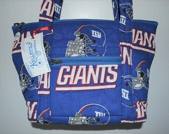 Quilted Fabric Handbag Purse New York Giants Football NFL