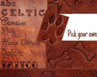 Personalized Dog Collar - Leather - Dog Collars - Chose Font