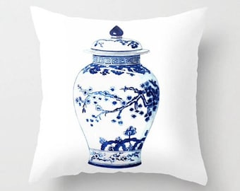 GINGER JAR No. 3 PILLOW  2 Colors - 4 sizes -  (indoor and outdoor fabrics)