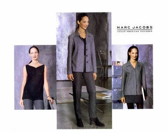 SALE Marc Jacobs Jacket Top Skirt Pants Vogue 2068 Sewing Pattern Size 14 - 16 - 18 Bust 36 - 38 - 40