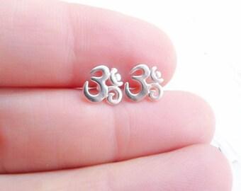 Yoga Earrings Om Studs Peaceful Namaste Jewelry for Yogis and Yoga Lovers