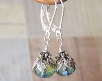 Sea Witch Earrings Sterling Silver Leverback Ear Wires Shorter Style
