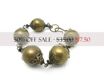 Chunky Bracelet, Big Bead Bracelet, Boho Chic, Upcycled Jewelry, Bohemian Style Jewelry, Wire Wrapped Jewelry, Artisan Made by Durango Rose
