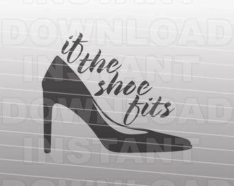 High Heel SVG,Glass Slipper svg,Cinderella svg,If the Shoe Fits svg,Girl Shoe svg,Vector Art Silhouette Cricut svg,Commercial & Personal Use