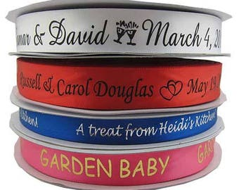 33 Yards of Custom Printed Satin Ribbon  -  Can be used for craft labels, too
