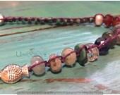 Adjustable Freshwater Pearl, Turquoise, Carnelian, Labradorite, Amethyst, Opal and Sterling Silver Hemp Choker