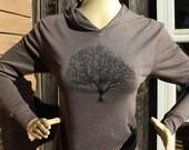 Willow Tree Hoodie Unisex Tri Blend Coffee