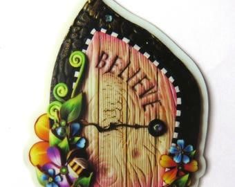 Believe Fairy Door Vinyl Sticker Original Artwork