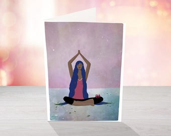 I am Yoga - Illustrated greeting card for all occasions