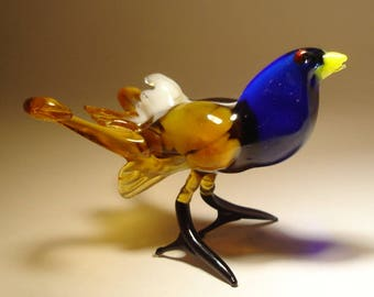 Handmade  Blown Glass Figurine  Art Bird GROUSE