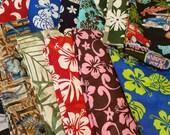 Grab Bag Destash Box of Aloha Hawaii cotton fabric -Scraps Plus