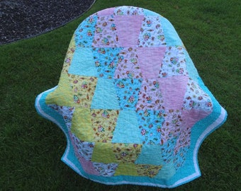 Modern Tumber Baby Quilt - I Love You Zoo - Quiltsy Handmade
