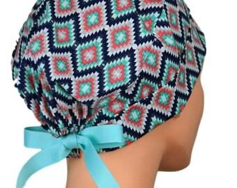 Scrub Hats // Scrub Caps // Scrub Hats for Women // The Hat Cottage // The Mini // Ribbon Ties // Tribal