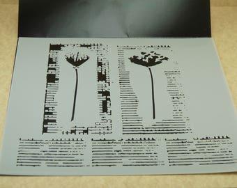 WILDFLOWER DUET Grain Laser Cut  TCW  6 x 6 Stencil