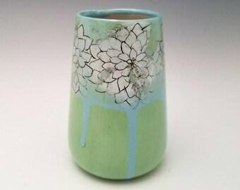 Ceramic bud vase, pottery vessel, modern ceramic vase