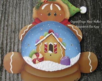 Gingerbread Snowglobe Ornament