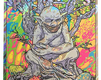 Primus LAVA Foil Knoxville TN Ambushing The Storm Desaturating Seven Rainbow Goblin Les Claypool Psychedelic Gigposter Poster by GIGART