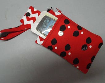 Woman's Wristlet Wallet or Small Bag with Smart Phone Pocket - Sun Glass Chic Fabric