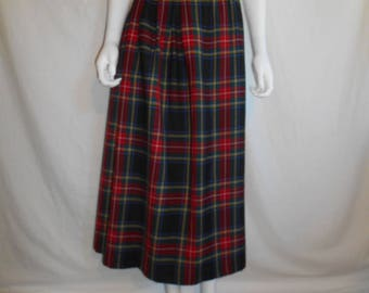 Wool Skirt tartan plaid