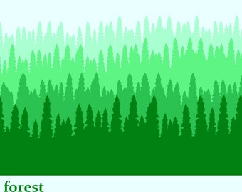 Forest thru the Trees Layering Silk Screen